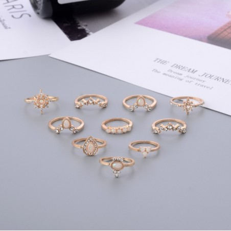 copy of Rings set 10 pcs crystal PE52