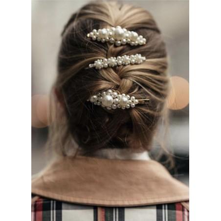Spinka do włosów z perełkami wsuwka perły złota SP35Z