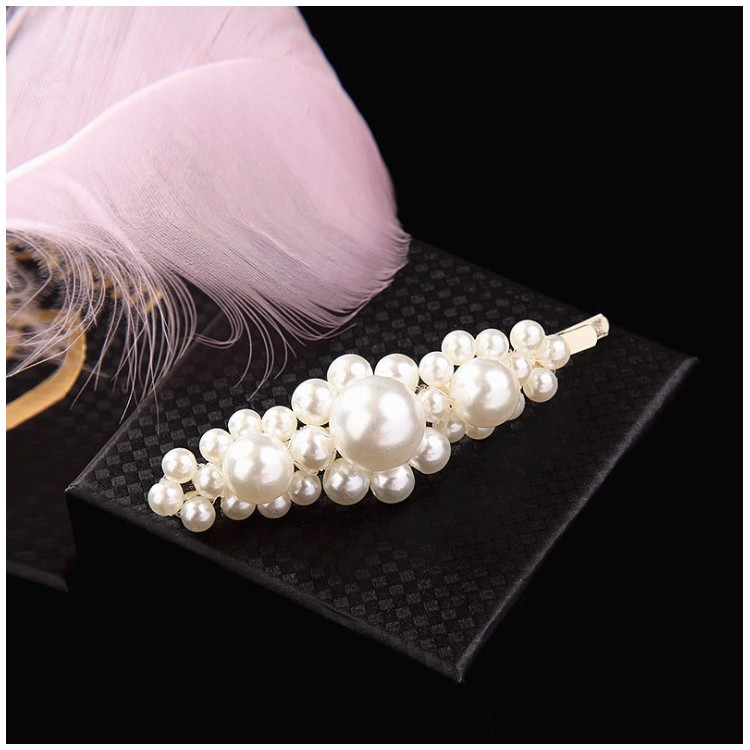 Spinka do włosów z perełkami wsuwka perły srebrna SP35S
