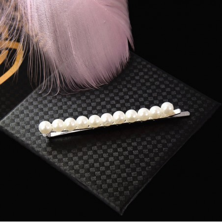 Spinka do włosów z perełkami wsuwka perły srebrna SP36S