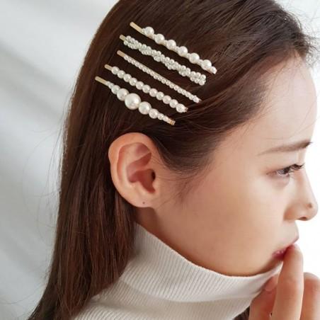 Spinka do włosów z perełkami wsuwka perły złota SP36Z