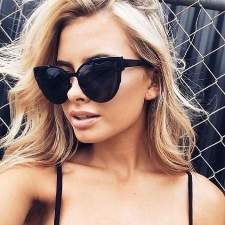 Okulary przeciwsłoneczne kocie czarne OK169WZ1