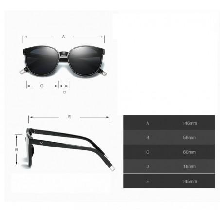 Okulary przeciwsłoneczne kocie czarno różowe OK169WZ2