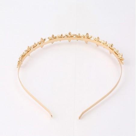 Opaska do włosów złota z kryształki O197