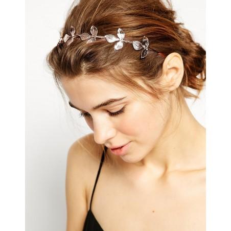 Opaska do włosów różowe złoto z kryształki O168