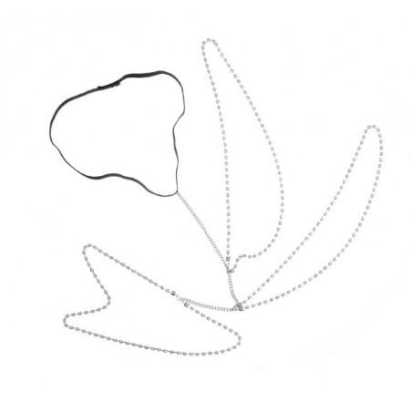 Bransoleta Harness ozdobny kryształowy srebrny B281S