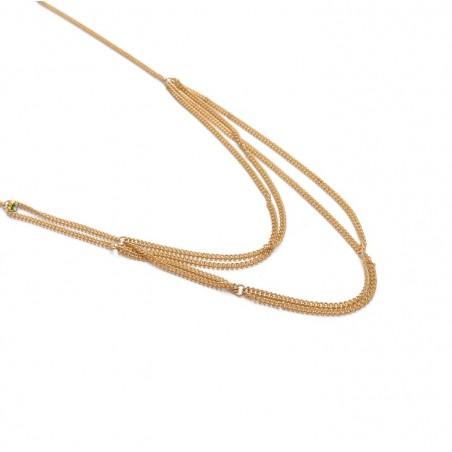 Dekoratives Harness Armband mit goldenem B282 Kristall