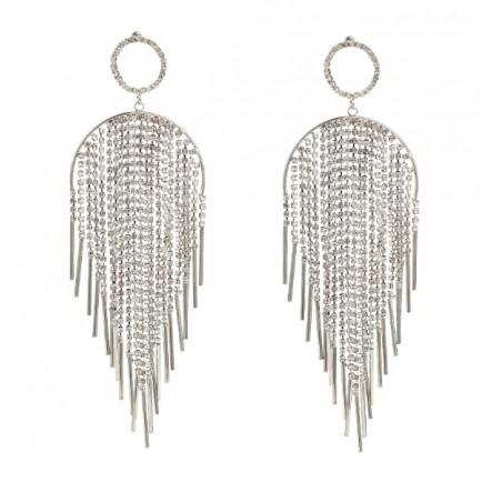 Kolczyki wiszące kryształki srebrne K1063S