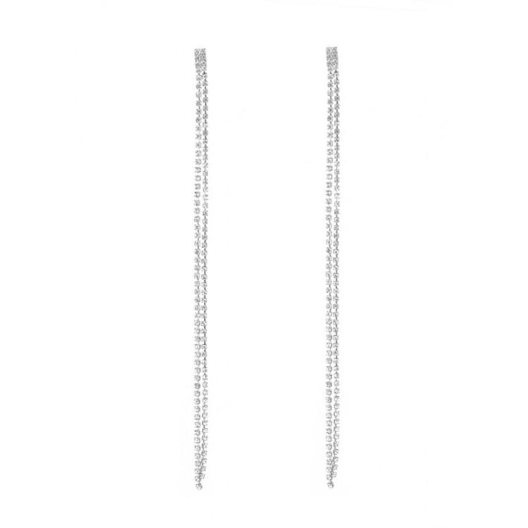 Kolczyki wiszące kryształki srebrne K1059S