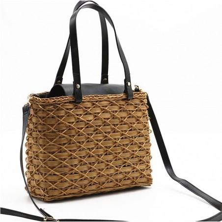 Torebka wiklinowa shopper bag piękna T167