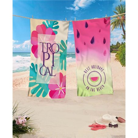 Rectangular beach towel 170x90 Flower REC44WZ2