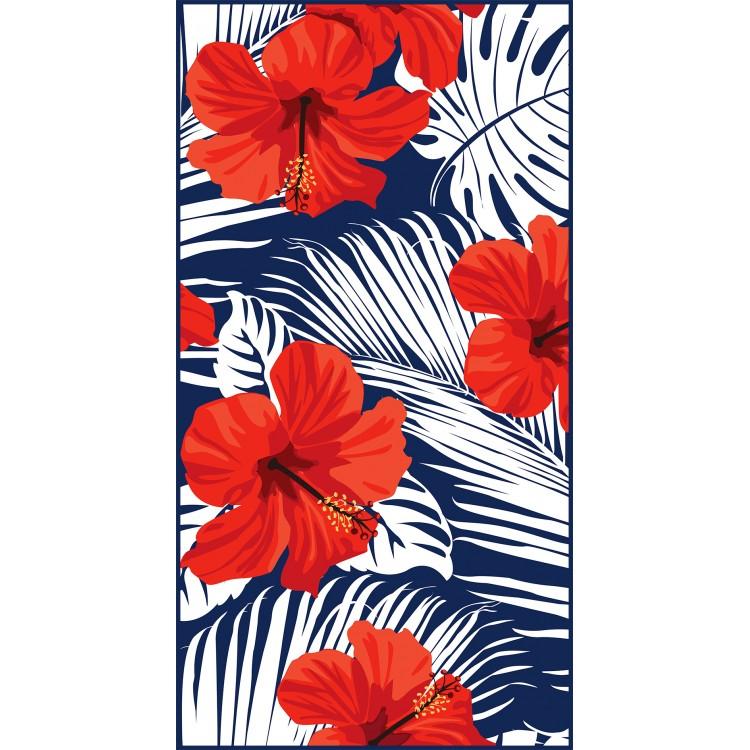 Ręcznik plażowy prostokątny 170x90 Kwiat REC44WZ2
