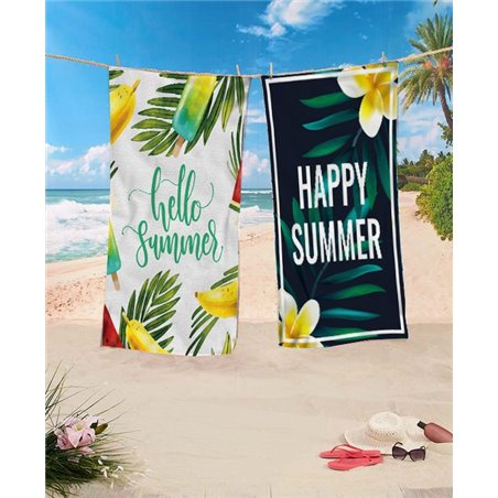 Beach towel rectangular 170x90 mint Flaming REC44WZ4