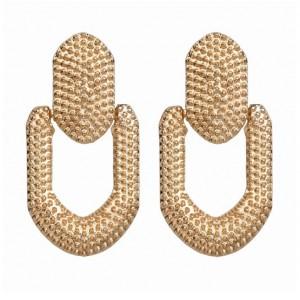 Kolczyki złote przy uchu K1141
