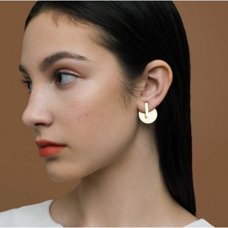 Kolczyki złote przy uchu K1075Z
