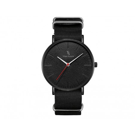 Zegarek męski Tom Saintz czarna tarcza czarny pasek ZM194CZ