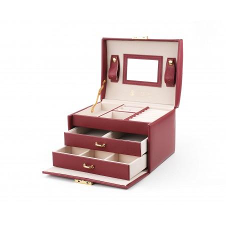 Szkatułka na biżuterię elegant bordowa STENBERG PD49BOR