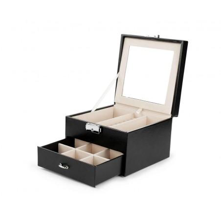 Szkatułka kuferek etui organizer na biżuterię STENBERG czarna PD70CZ