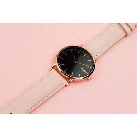 Zegarek damski classy czarna tarcza na pasku Z691R