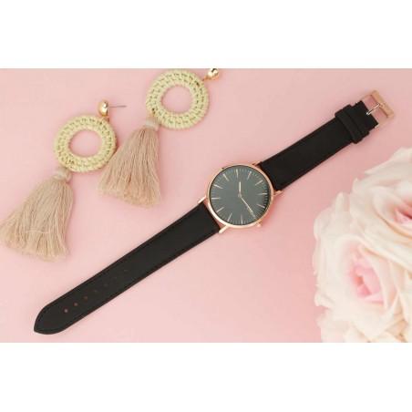 Zegarek damski classy czarna tarcza na pasku Z691CZ