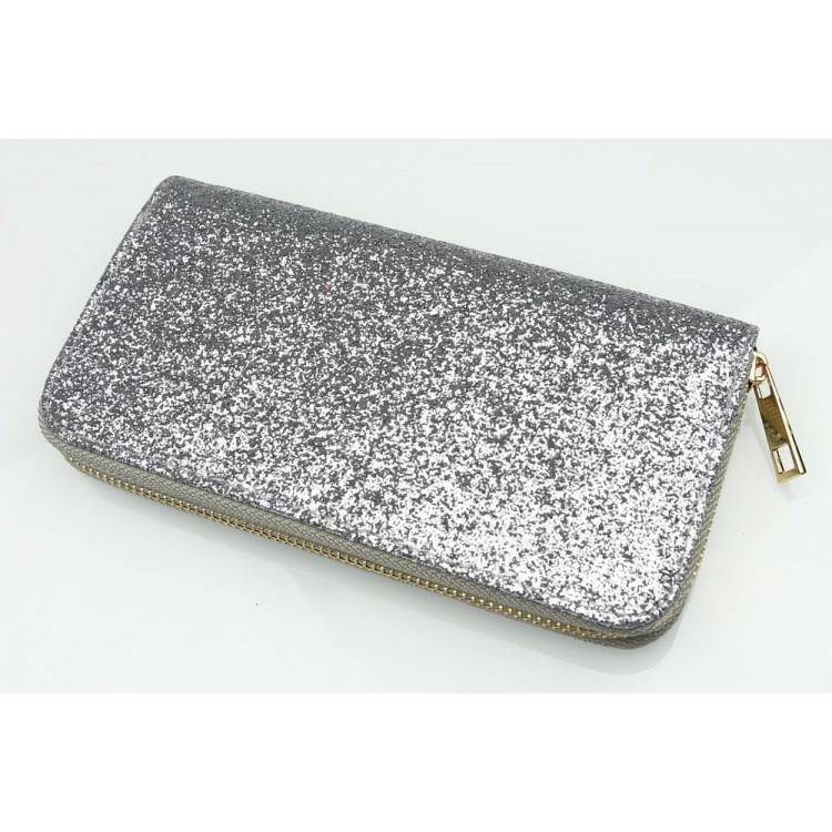 Portfel GLITTER Simple Silver PW51S