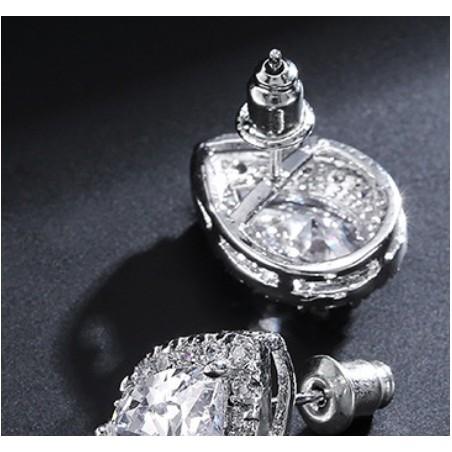 Kolczyki ślubne z kryształkami stal chirurgiczna KSL22