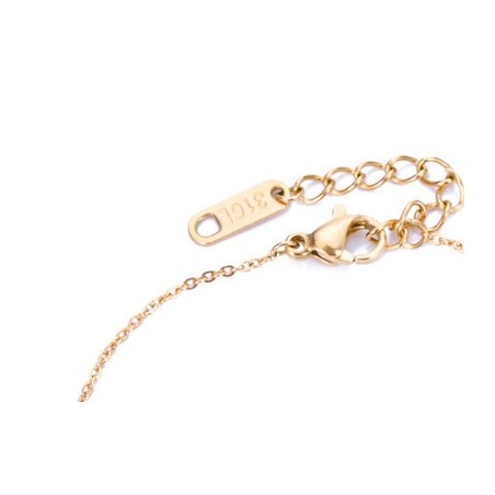 Bransoletka ze stali chirurgicznej platerowana złotem rings BST909