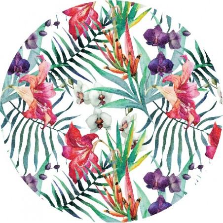 Ręcznik plażowy okrągły BOHO kwiaty REC35WZ56