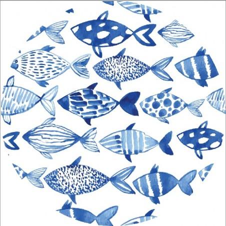 cRęcznik plażowy okrągły BOHO ryby REC35WZ57