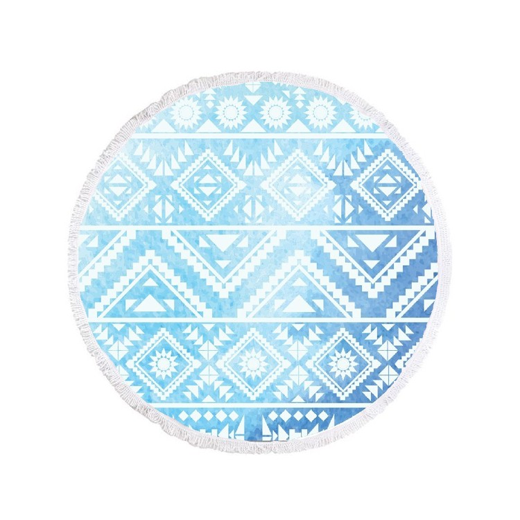 copy of Ręcznik plażowy okrągły BOHO kwiaty REC35WZ54