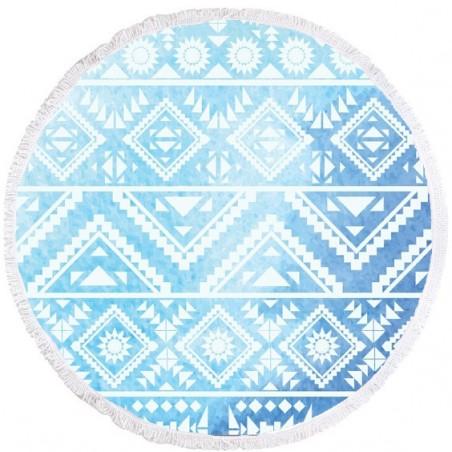 Ręcznik plażowy okrągły BOHO geometria REC35WZ55