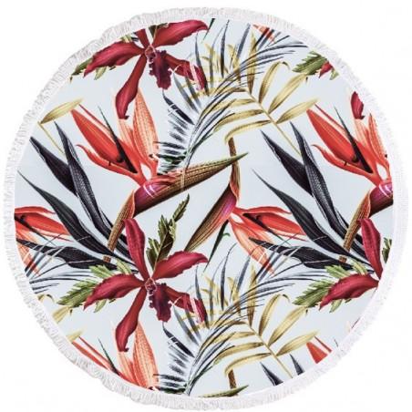 Ręcznik plażowy okrągły BOHO kwiaty REC35WZ53