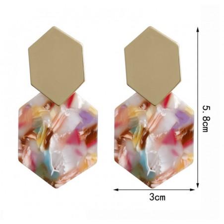 KOLCZYKI plastikowe proste kolor K1156KOL