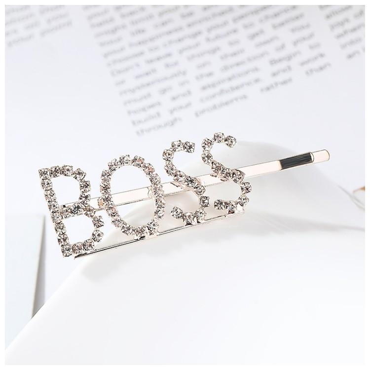 Wsuwka do włosów napis kryształ BOSS SP82Z