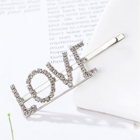 Wsuwka do włosów napis kryształ LOVE SP84S