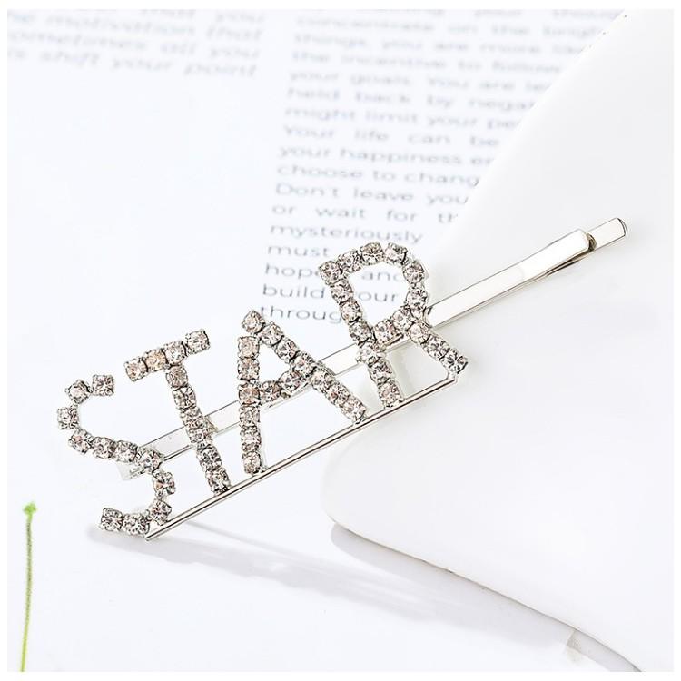 Wsuwka do włosów napis kryształ STAR SP86S
