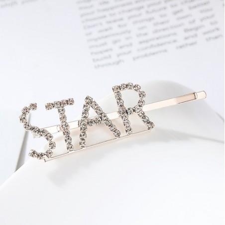 Wsuwka do włosów napis kryształ STAR SP86Z