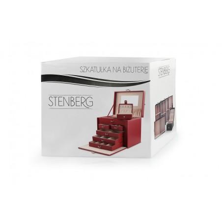 Szkatułka na biżuterię STENBERG kuferek etui organizer pudełko czerwona PD64CZE