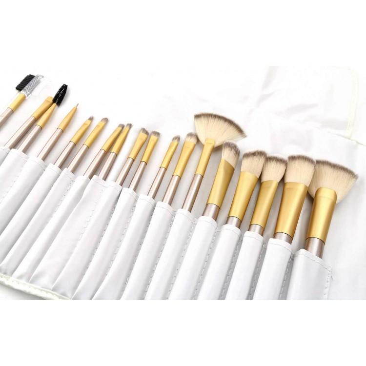 Zestaw pędzli do makijażu 18 sztuk w etui PZ26