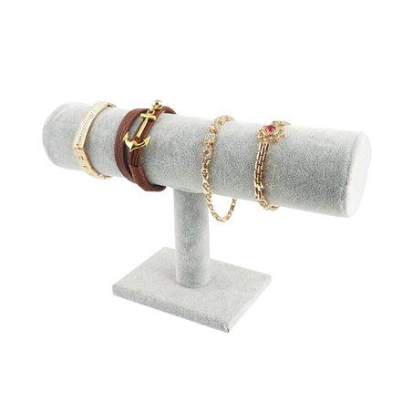 Ekspozytor stojak na biżuterie bransoletki szary E13