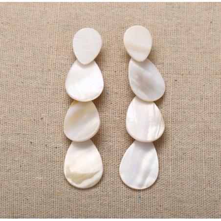 Kolczyki wiszące perły długie K1160