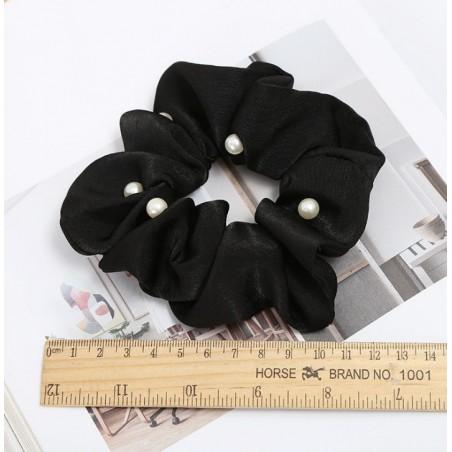 Elastisches Haarband mit Perlen schwarz GUM11CZ