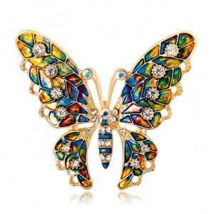 Broszka Dżetowa Motyl z...