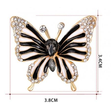 Broszka czarny motyl BZ40