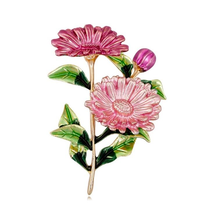 Broszka kwiaty róż BZ48