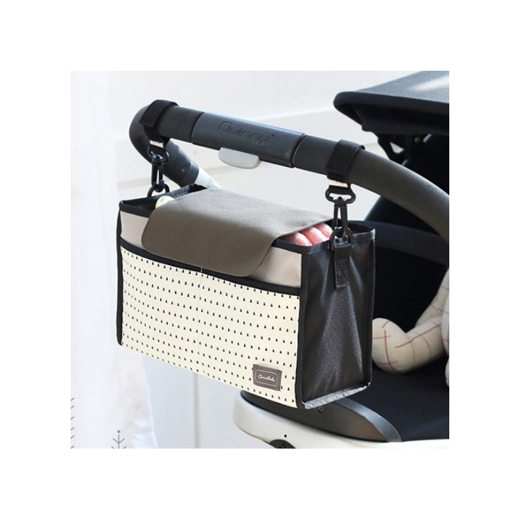 Wiszący organizer do wózka lub stojący biało czarny OR22B