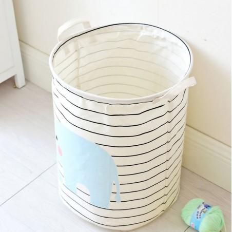 Pojemnik na zabawki kosz, worek na pranie słoń OR2WZ90