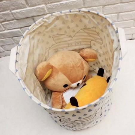 Pojemnik na zabawki kosz, worek na pranie słoń OR2WZ91