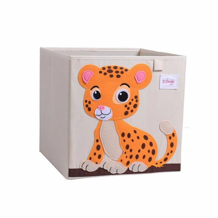 Pojemnik na zabawki sztywny,  filc, tygrys OR4WZ3