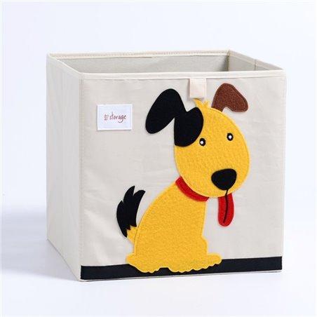 Pojemnik na zabawki sztywny, filc, pies OR4WZ6